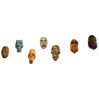 Scott Thewes Hand Made Masks - Set of 7 For Sale