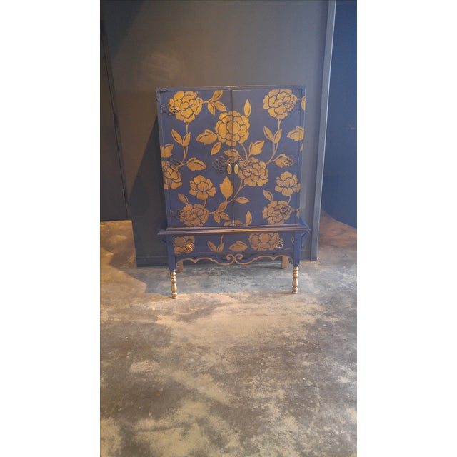 Blue and Gold Cabinet - Image 2 of 3