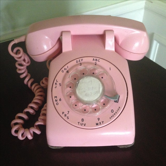 Vintage Pink Rotary Dial Telephone - Image 2 of 11