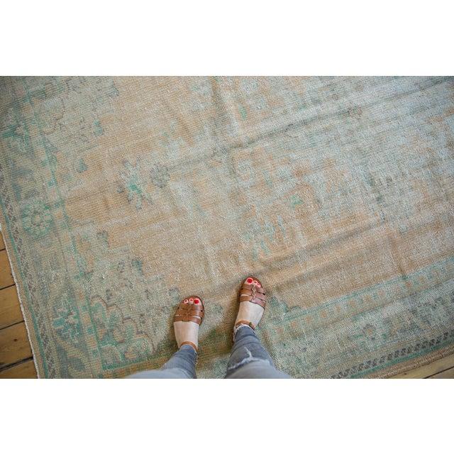 "Vintage Distressed Oushak Carpet - 6'4"" X 9'10"" For Sale - Image 11 of 12"