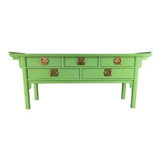 Chinoiserie Pagoda Console Table by Century Furniture For Sale