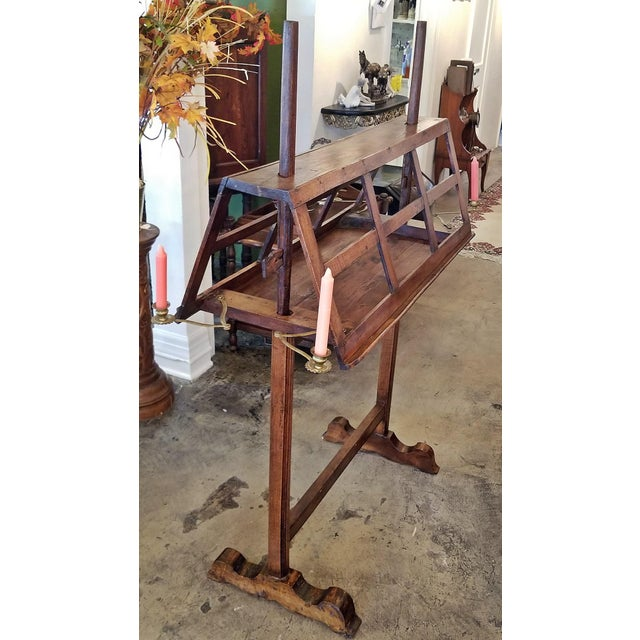 Gold 18c French Extra Large Walnut Duet Stand For Sale - Image 8 of 13
