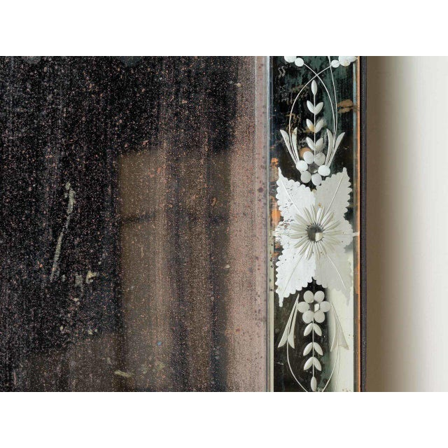 Traditional Antique Venetian Mirror For Sale - Image 3 of 5
