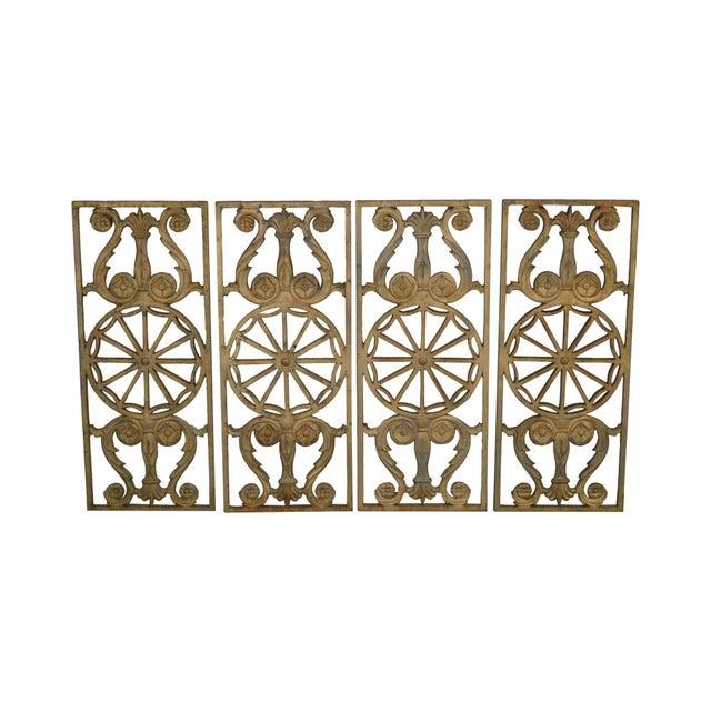 Art Deco Antique Vintage 1940's Set of 9 Cast Iron Railing Panels For Sale - Image 13 of 13