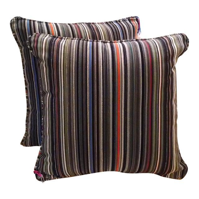 Maharam Paul Smith Epingle Stripe Pillows - A Pair - Image 1 of 6
