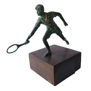 Curtis Jere Tennis Player Sculpture For Sale
