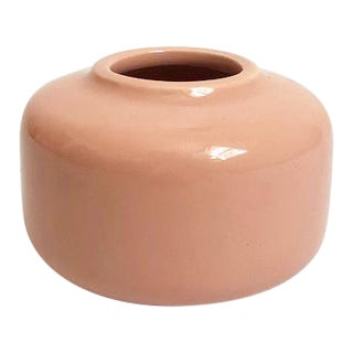 Vintage 1987 Petite Blush Pink Vase by Aromatic For Sale