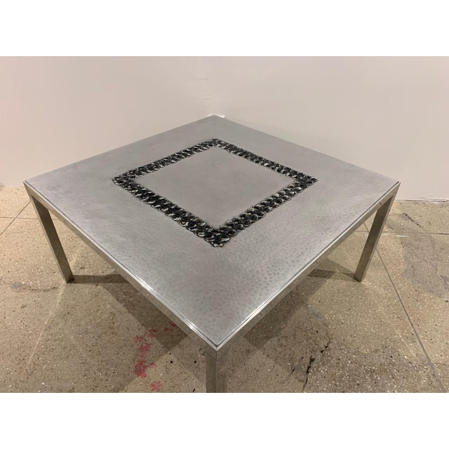 1970s Willy Luckyx Aluclair Belgian Table For Sale In New York - Image 6 of 13