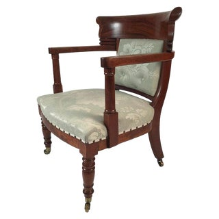 19th Century French Empire Neoclassical Armchair For Sale