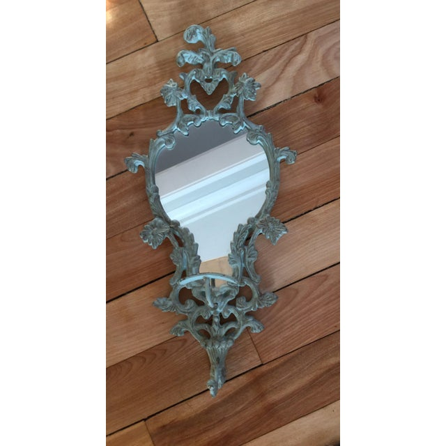 Vintage-Like Wall Mirror With Hat Hook - Image 2 of 6