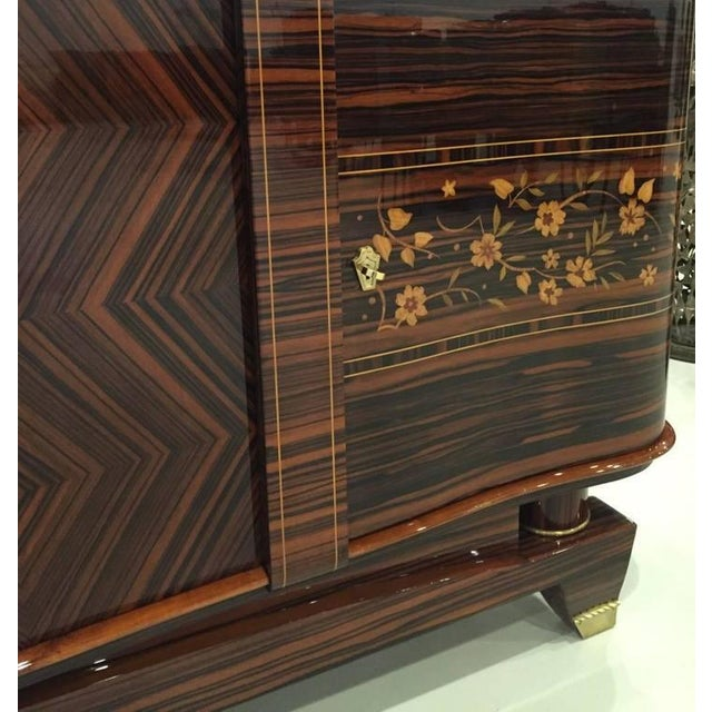 """1920s Circa 1920s French Art Deco Macassar """"Zigzag"""" Buffet For Sale - Image 5 of 6"""