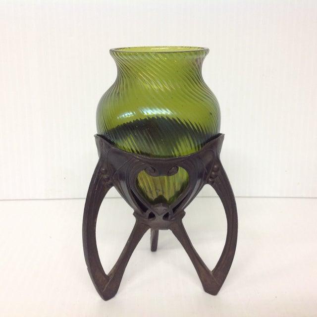 Art Glass Insert in an 1920s Osirus Metal Mount - Image 2 of 4