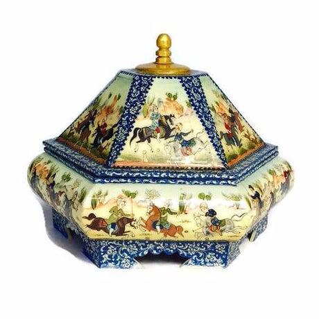Vintage Persian Ornate Bone Trinket Box - Image 1 of 6