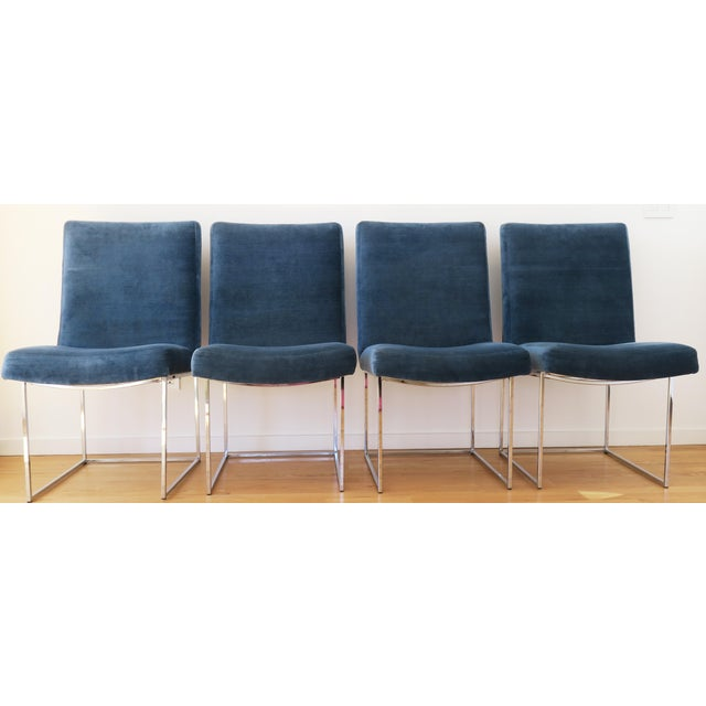 1970s Mid-Century Milo Baughman for Thayer Coggin Rosewood Table and Dining Chairs Set For Sale - Image 5 of 10