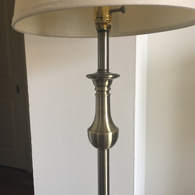 Traditional Classic Polished Brass Floor Lamp For Sale - Image 3 of 6