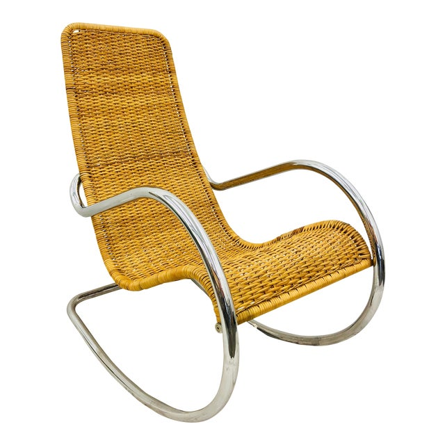 Mid Century Modern Thonet Rocking Chair For Sale