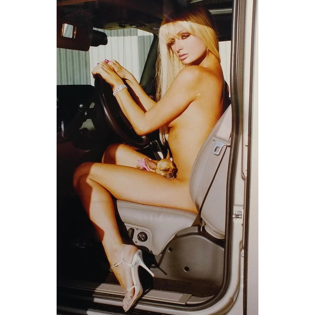 """Americana """"Paris Hilton Nude With Tinkerbell"""" Original Photograph, Signed For Sale - Image 3 of 9"""