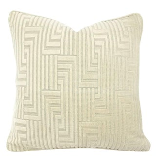 "Groundworks Louvered Maze in the Color Beige Pillow Cover - 20"" X 20"" For Sale"