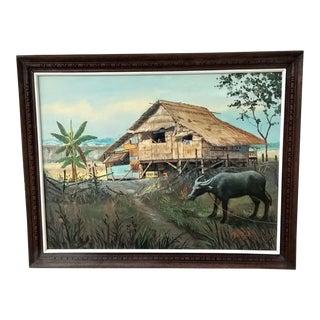 Thailand Rural Landscape Painting For Sale