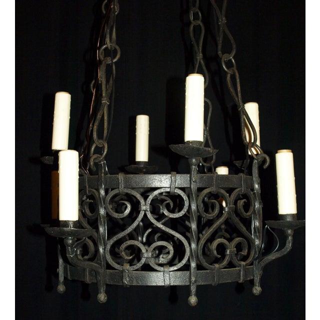 Antique Chandelier. Iron Chandelier - Image 3 of 7
