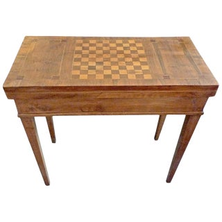 19th Century French Biedermeier Game Table With Inlay Top For Sale