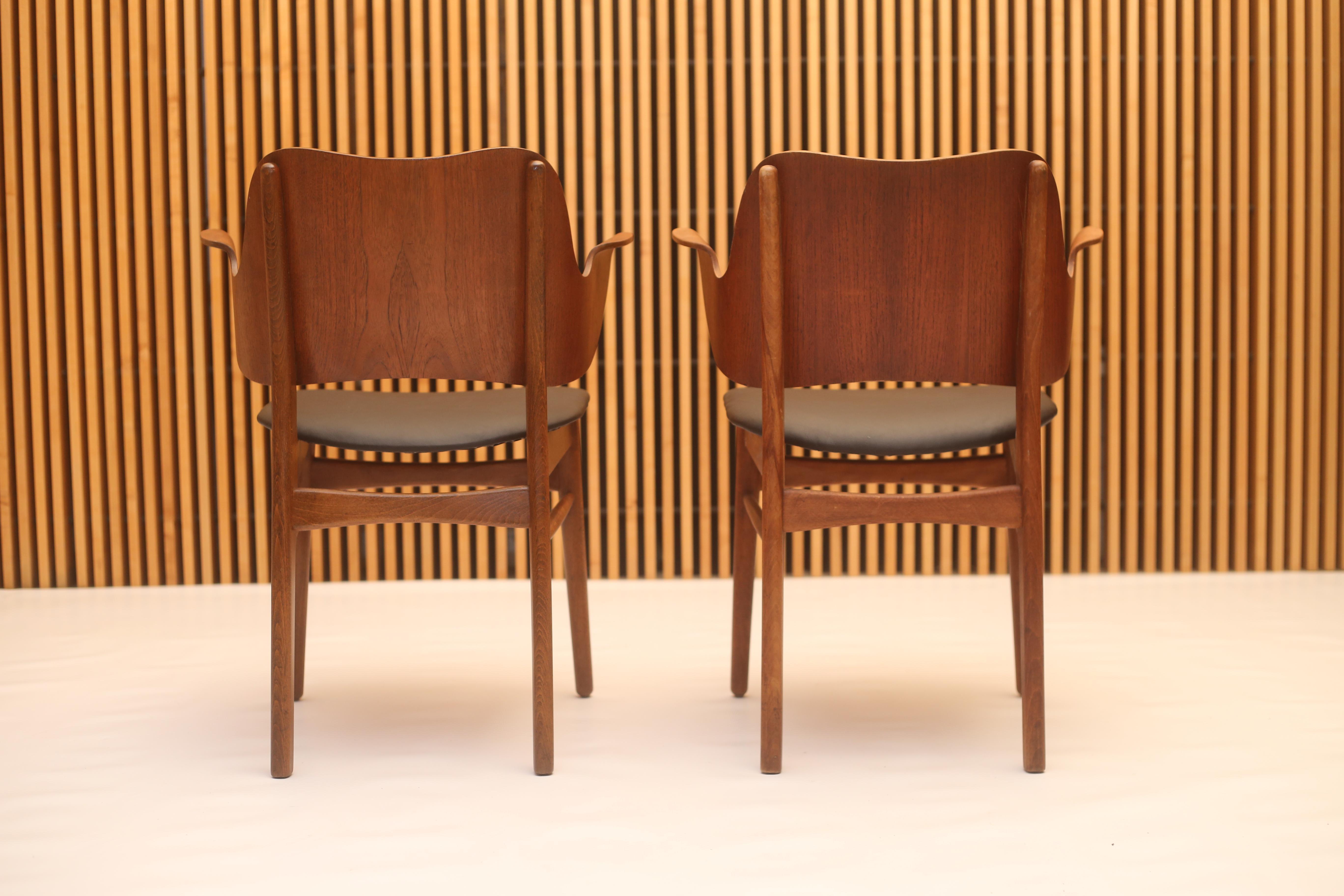 Wonderful Hans Olsen Style Danish Modern Teak Dining Chairs   Set Of 4   Image 3 Of