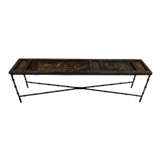 Chinese Lacquer Panel Coffee Table For Sale