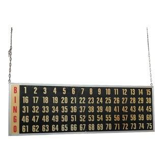 Vintage Bingo Wall Board