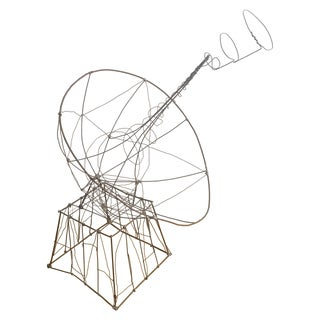 Wire Satellite Sculpture