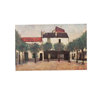"1947 Maurice Utrillo, ""Place De Montigny"" Original Parisian Lithograph For Sale"
