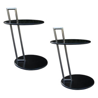 Mid-Century Modern Wood & Steel Drinks Tables - a Pair For Sale