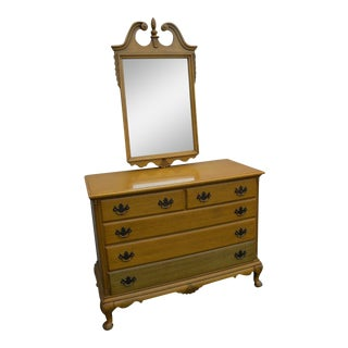 Painted Mahogany Dresser With Mirror For Sale