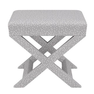 X Bench in Grey Scattered Dot For Sale