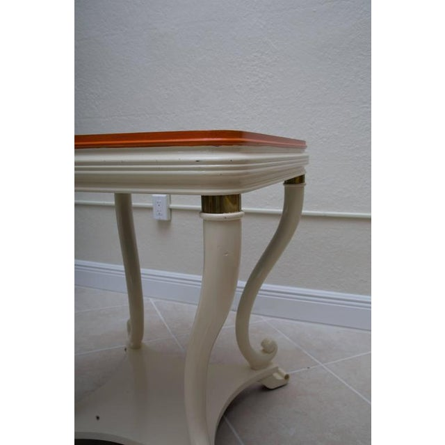 Pair of White Painted Empire Style End Tables - Image 5 of 7
