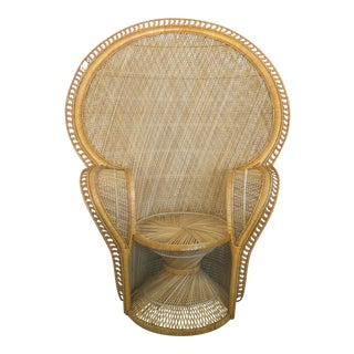 Over-Scale Woven Rattan Peacock Chair