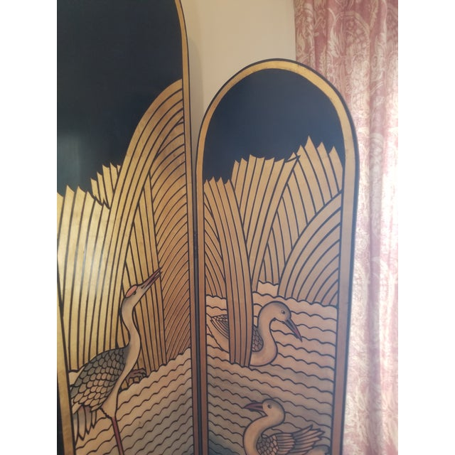 1980's Lacquer Screen Deco Revival For Sale In New York - Image 6 of 7