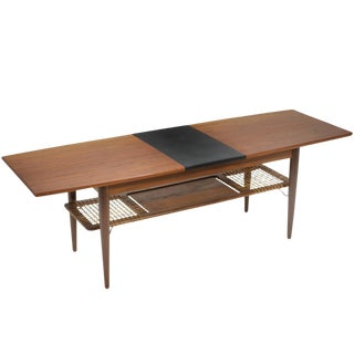Danish Teak Extension Coffee Table For Sale