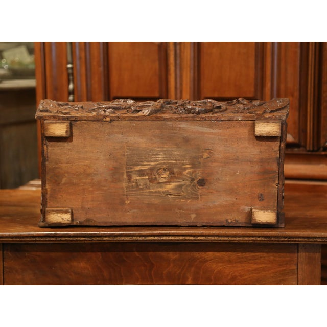 Brown 19th Century French Black Forest Carved Walnut Jardiniere With Zinc Liner For Sale - Image 8 of 9