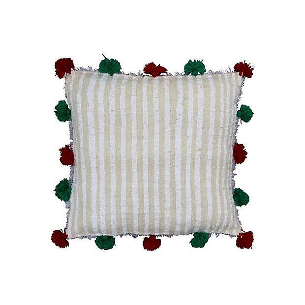 Handwoven Moroccan Berber wedding sham from the High Atlas mountains. Zipper closure. Sham only, insert not included.