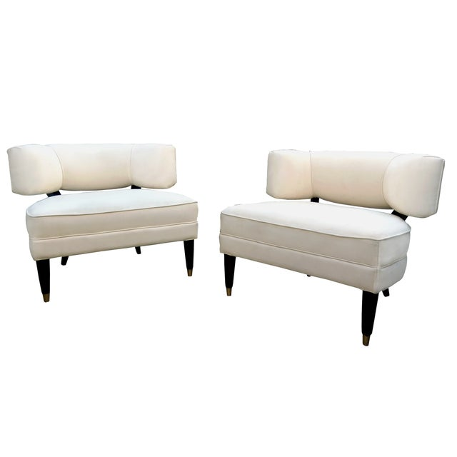 Modern Contemporary Slipper Lounge Chairs - Pair - Image 1 of 10