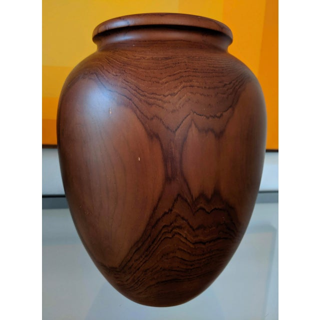 Brown Oversize Turned Walnut Vessels, a Pair For Sale - Image 8 of 12