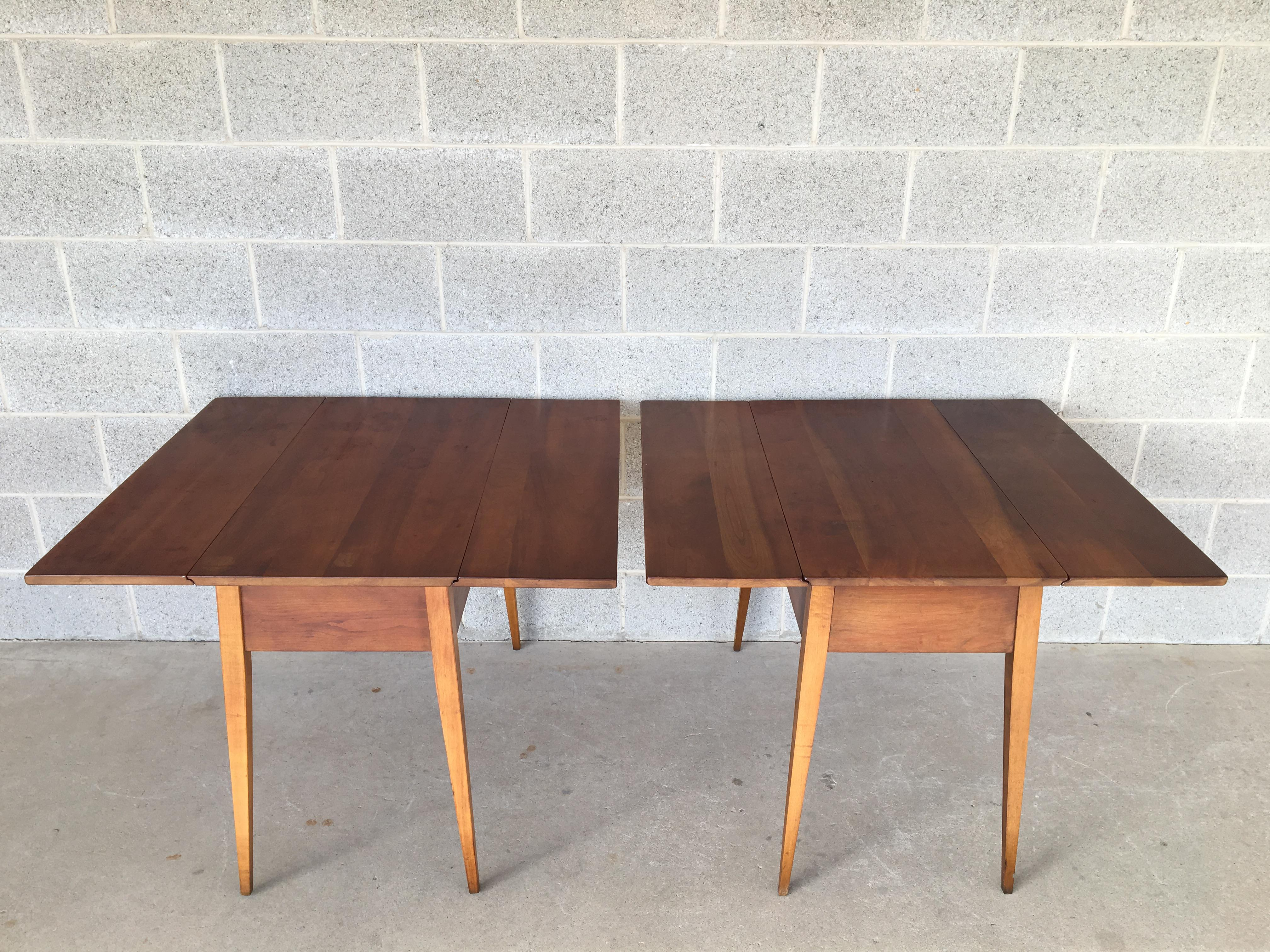 L. Stickley Cherry Valley Drop Leaf Accent Tables   A Pair   Image 2 Of