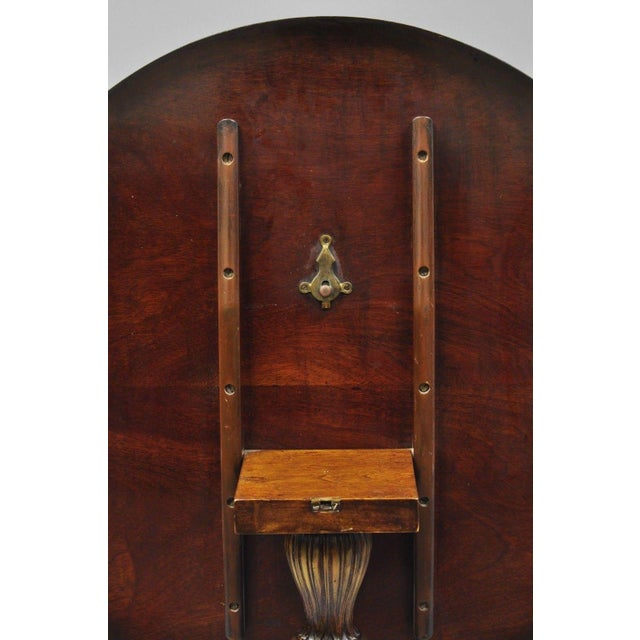 Late 20th Century Chippendale Style Mahogany Pie Crust Tilt Top Tea Table with Ball and Claw Feet For Sale - Image 5 of 13