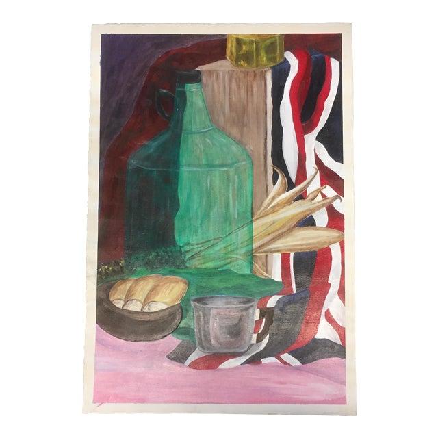 Original Vintage Painting Student Study Still Life For Sale