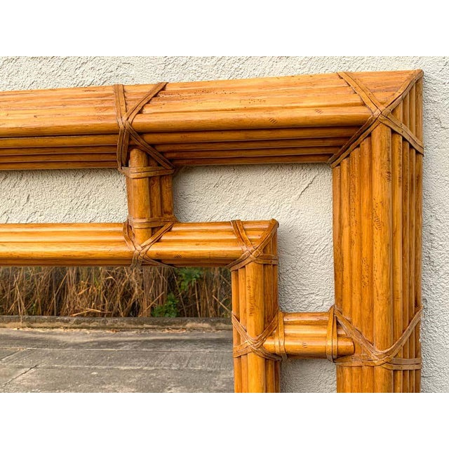 Henredon Large Bamboo & Willow Architectural Mirror, by Henredon For Sale - Image 4 of 7