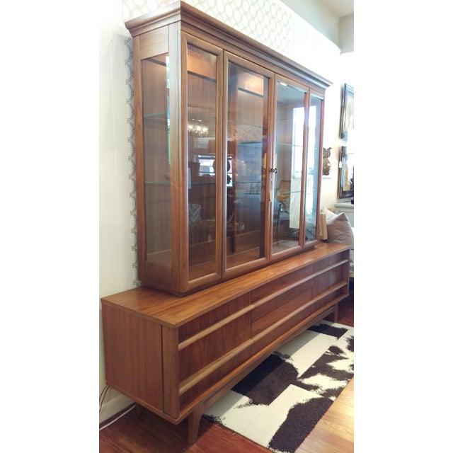 Mid-Century Kagan Style Bowed Front Hutch - Image 4 of 8