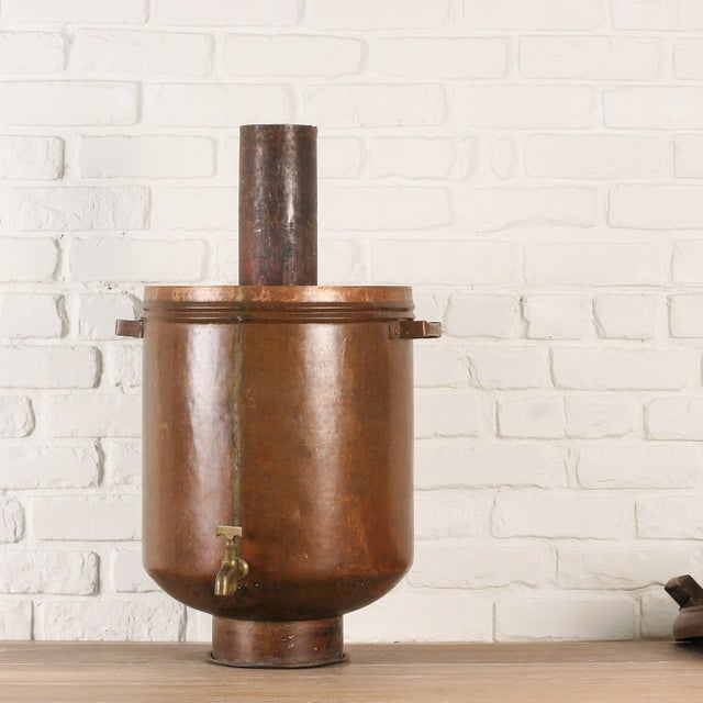 Copper Hot Water Maker or Samovar from India - Image 4 of 5