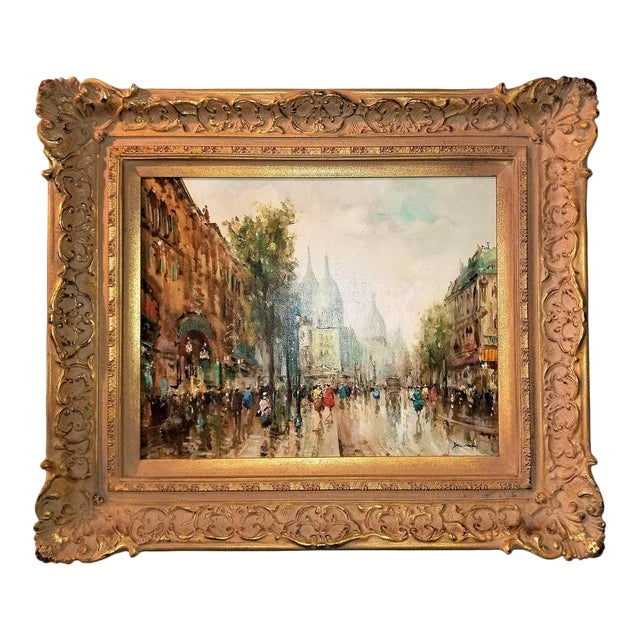 Paris Montmarte Oil Painting on Canvas by Demone For Sale
