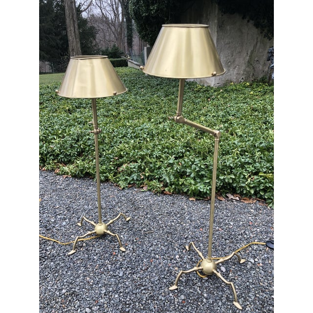 Essex Tripod Floor Lamps With Shades - a Pair For Sale - Image 13 of 13