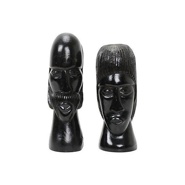 Jamaican Couple Modern Wood Sculptures - Image 1 of 4
